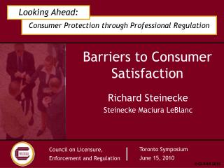 Barriers to Consumer Satisfaction