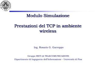 Modulo Simulazione Prestazioni del TCP in ambiente wireless