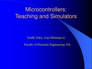 Microcontrollers: Teaching and Simulators