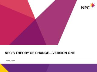 NPC's theory of change—version one