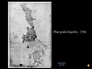 Plan grada Zagreba - 1766