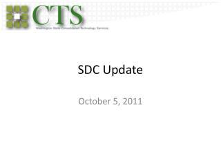 SDC Update