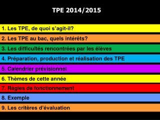 TPE 2014/2015