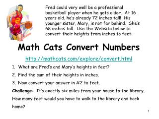 Math Cats Convert Numbers mathcats/explore/convert.html