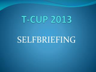 T-CUP 2013