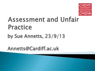 Assessment and Unfair Practice