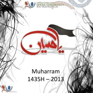 Muharram  1435H – 2013