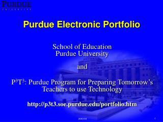 Purdue Electronic Portfolio
