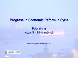 Progress in Economic Reform in Syria