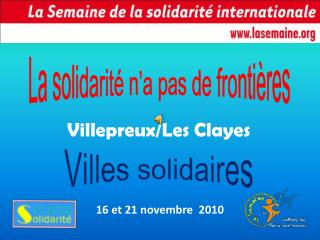 La solidarité n'a pas de frontières