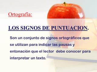 LOS SIGNOS DE PUNTUACION .