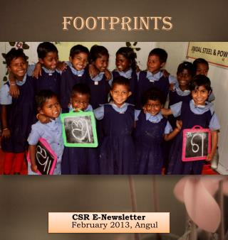 CSR E-Newsletter                   February 2013, Angul