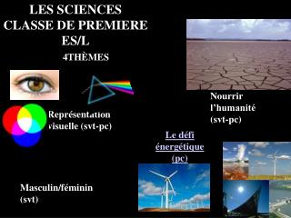 LES SCIENCES CLASSE DE PREMIERE ES/L