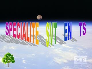 SPECIALITE    SVT    EN    TS