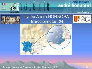 Lycée André HONNORAT Barcelonnette (04)