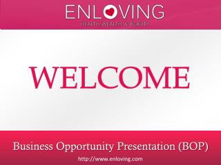 Business Opportunity Presentation (BOP)