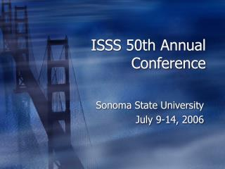 ISSS 50th Annual Conference