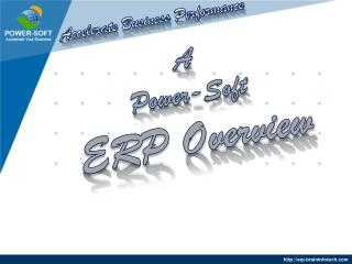 A Power-Soft ERP Overview