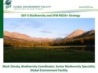 Mark Zimsky, Biodiversity Coordinator, Senior Biodiversity Specialist, Global Environment Facility