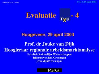 Evaluatie - 4 Hoogeveen ,  29 april 2004