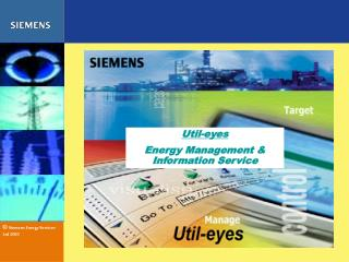 Util-eyes Energy Management & Information Service