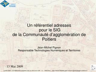 Un référentiel adresses  pour le SIG de la Communauté d'agglomération de Poitiers