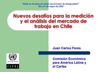 Nuevos desafíos para la medición  y el análisis del mercado de  trabajo en Chile