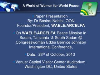 A World of Women for World Peace