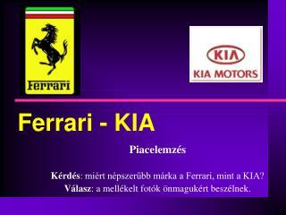 Ferrari - KIA