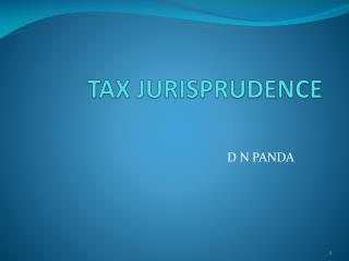 TAX JURISPRUDENCE