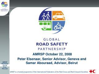 AMRSP October 22, 2008 Peter Elsenaar, Senior Advisor, Geneva and Samar Abouraad, Advisor, Beirut