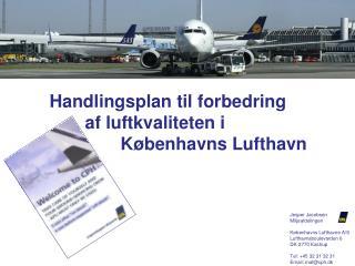 Handlingsplan til forbedring  af luftkvaliteten iKøbenhavns  Lufthavn