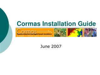 Cormas Installation Guide