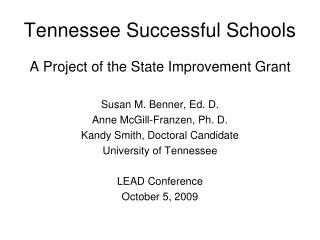Tennessee Successful Schools