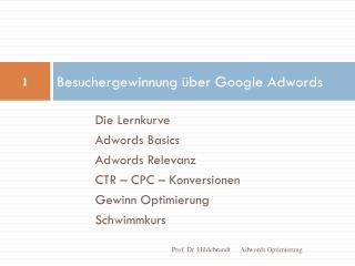 Besuchergewinnung über Google Adwords