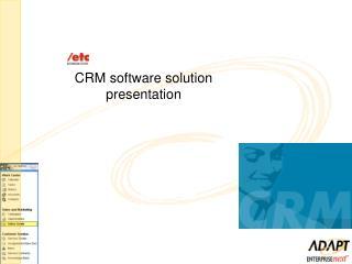 CRM software solution presentation