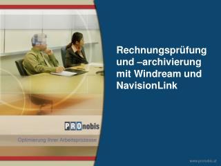 Rechnungsprüfung und –archivierung mit Windream und NavisionLink