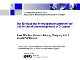 Der Einfluss der Interdependenzstruktur auf das Informationsmanagement in Gruppen