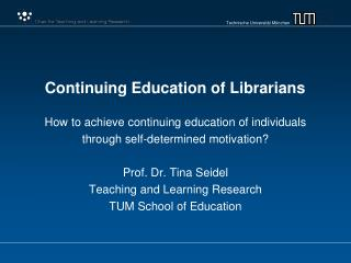 Continuing Education of Librarians