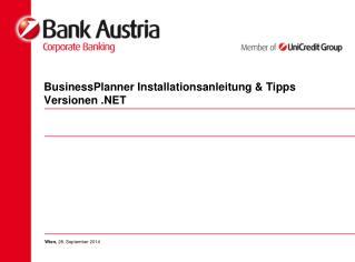 BusinessPlanner Installationsanleitung & Tipps Versionen .NET