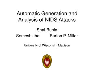 Automatic Generation and Analysis of NIDS Attacks