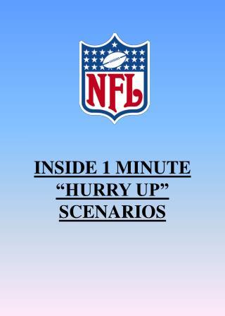 """INSIDE 1 MINUTE """"HURRY UP"""" SCENARIOS"""