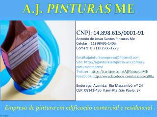 Empresa de pintura em edificação comercial e residencial .