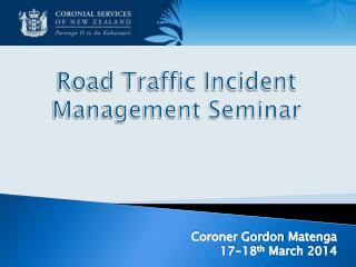 Road Traffic Incident Management Seminar