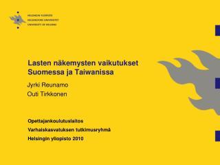 Lasten näkemysten vaikutukset Suomessa ja Taiwanissa