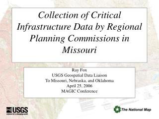 Collection of Critical Infrastructure Data by Regional Planning Commissions in Missouri