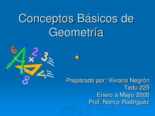 Conceptos B sicos de Geometr a