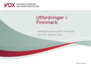 Utfordringer i Finnmark