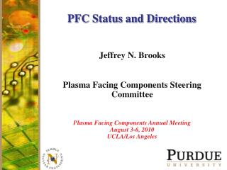 PFC Status and Directions