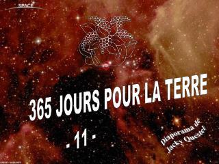 365 JOURS POUR LA TERRE